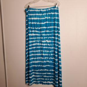 Avenue Turquoise Tie Dye Maxi skirt size 18/20